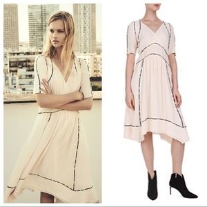 BA&SH Flavie Dress in Poudre/Powder